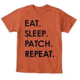 Eat Sleep Patch Repeat kids t-shirt