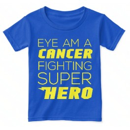 cancer fighting super hero kid t-shirt