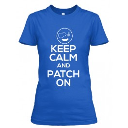 Keep Calm and Patch on Adult T-shirt