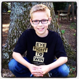 Retinoblastoma Warrior T-shirt Infant/toddler/youth