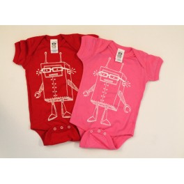 Infant Robot in Glasses Shirt