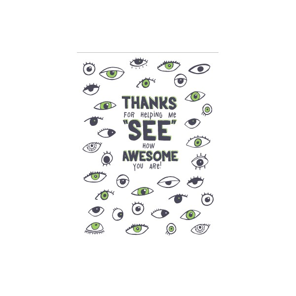 thanks for helping me see card eye power kids wear llc